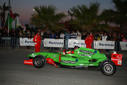 Speed demo in Portimao: Filipe Albuquerque, driver of A1 Team Portugal