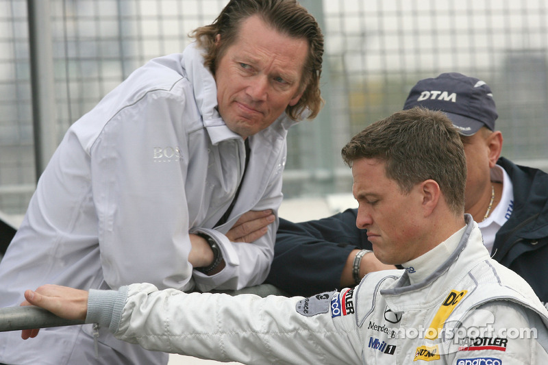 Hans-Jürgen Mattheis, Teammanager HWA Mercedes and Ralf Schumacher, Team HWA AMG Mercedes C-Klasse