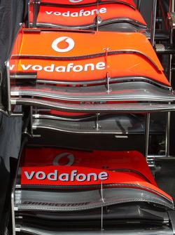Twp different McLaren Mercedes, front wings
