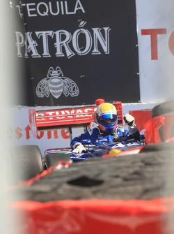 Gustavo Yacaman in the tire wall