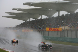 Sebastien Buemi, Scuderia Toro Rosso, and Fernando Alonso, Renault F1 Team