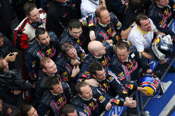 Red Bull team celebrate there one-two finish