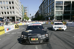 Audi A4 DTM  and AMG Mercedes C-Klasse on the roadcourse