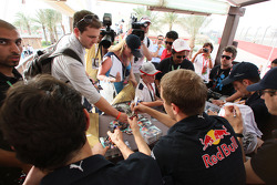 Sebastian Vettel, Red Bull Racing, autograph session in the fan area