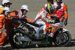 Toni Elias, San Carlo Honda Gresini crashes