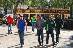 A1GP Drivers take a tour of London