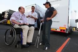 Philippe Streiff, ancien pilote de F1 avec Alex Zanardi, BMW Team Italy-Spain