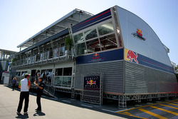 Red Bull Energy station, motorhome of Red Bull Racing and Scuderia Torro Roso