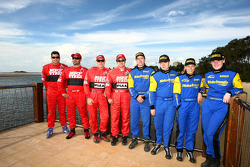 Gaurav Gill and Glen Macneall, MRF Tyres, Katsuhiko Taguchi and Mark Stacey, MRF Tyres, Cody Crocker and Ben Atkinson, Motor Image Racing, Emma Gilmour and Rhianon Smyth, Motor Image Racing