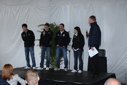 Andretti Green Racing press conference: Hideki Mutoh, Andretti Green Racing, Marco Andretti, Andretti Green Racing, Tony Kanaan, Andretti Green Racing and Danica Patrick, Andretti Green Racing