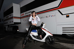 A lovely LCR Honda MotoGP girl