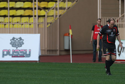 Star Team vs Nazionale Piloti, Charity Football Match, Monaco, Stade Louis II: Price Albert of Monaco leaves the pitch