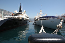 Boats in Monaco harbour