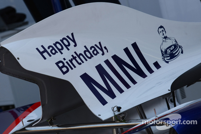 Happy Birthaday to Mini on the BMW engine cover