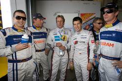#40 Raeder Automotive GmbH Ford GT: Marc Henerici, Dirk Adorf, Frank Biela , Mike Rockenfeller and Thomas Mutsch