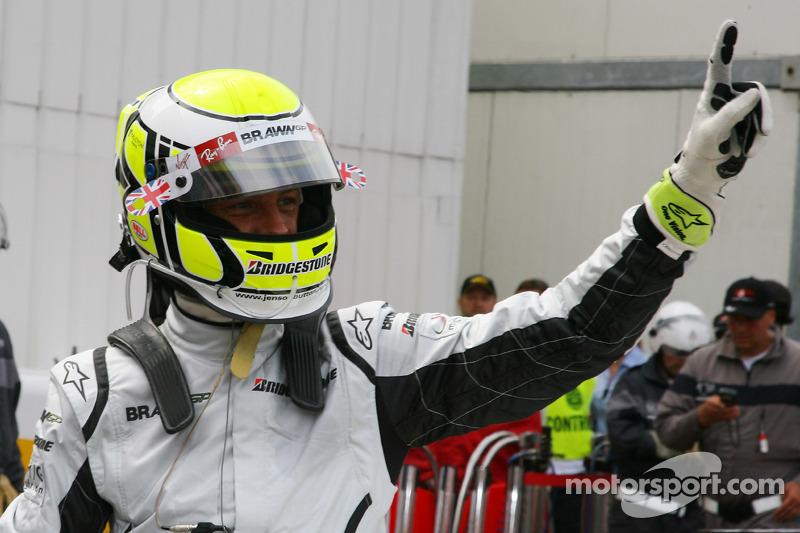 Ganador de la Pole Position Jenson Button, Brawn GP