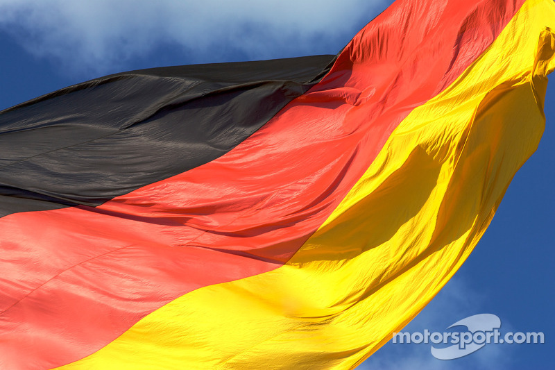 Visit of Berlin: German flag at the Reichstag buliding