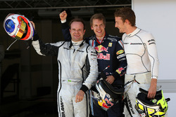 Sebastian Vettel, Red Bull Racing, Jenson Button, Brawn GP, Rubens Barrichello, Brawn GP