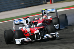Jarno Trulli, Toyota F1 Team and Timo Glock, Toyota F1 Team
