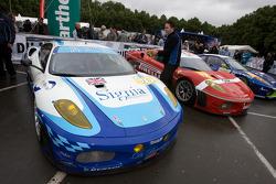 #96 Virgo Motorsport Ferrari F430 GT about to enter scrutineering