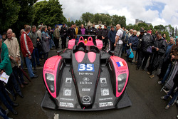 #35 OAK Racing Pescarolo Mazda arrives at scrutineering
