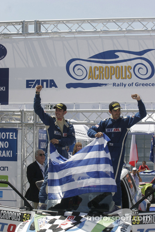 Podium: Lambros Athanassoulas and Nikolaos Zakheos, Skoda Fabia S2000