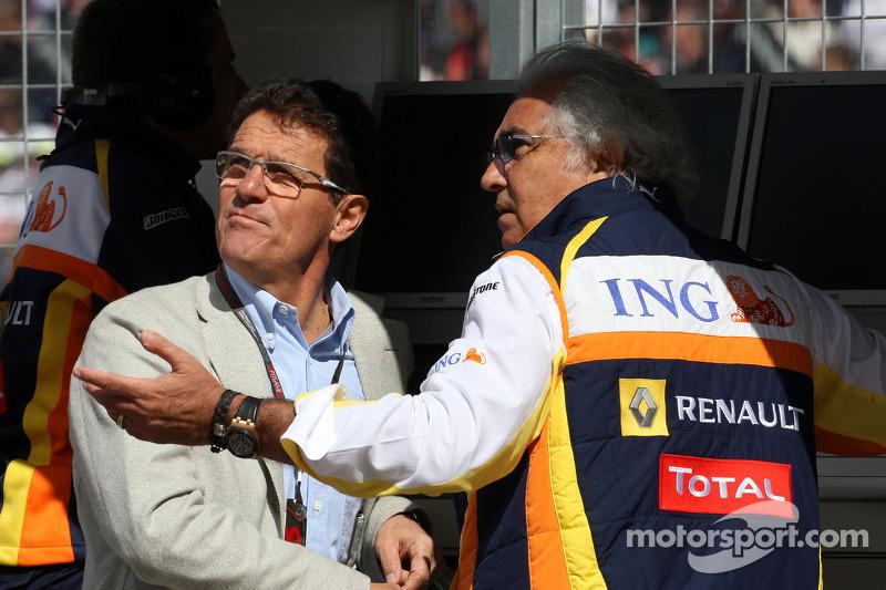 Fabio Capello England Football team manager, Flavio Briatore, Renault F1 Team, Team Chief, Managing Director
