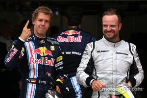 Vettel and Barrichello in 2009