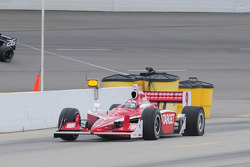Scott Dixon, Target Chip Ganassi Racing gets a flat tire