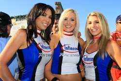 Victory lane: the lovely Infineon Raceway girls