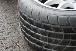 Used wet tyres