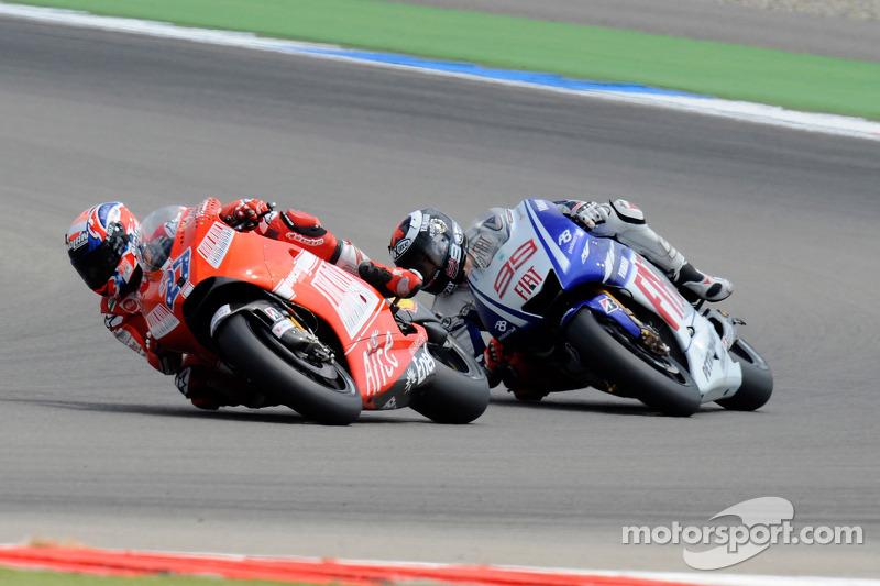 Casey Stoner, Ducati Marlboro Team, Jorge Lorenzo, Fiat Yamaha Team