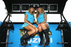The lovely Rizla Suzuki MotoGP girls