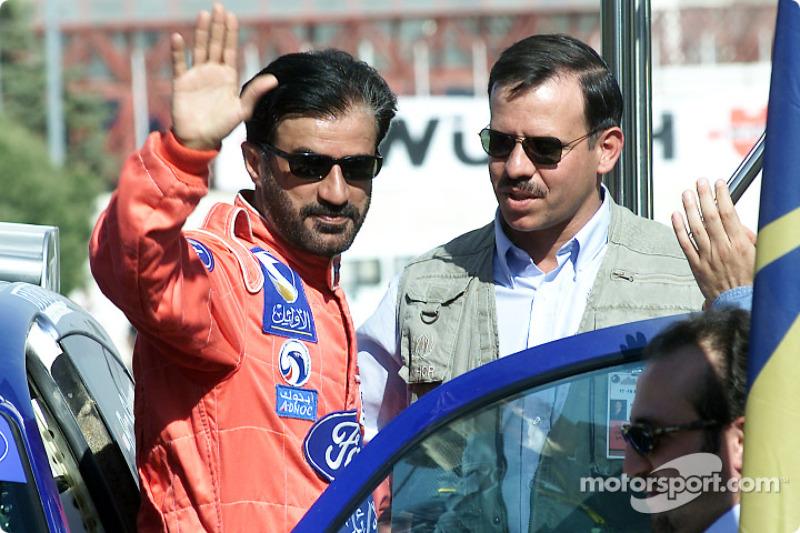 Rally winner Mohamed Ben Sulayem with the Chairman of Jordan Motor Sport HRH Prince Feisal Al-Hussein