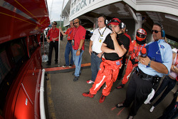Pierre Kaffer and Risi Competizione watch qualifying as Jaime Melo is on his flying lap