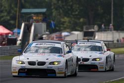 #90 BMW Rahal Letterman Racing Team BMW E92 M3: Bill Auberlen, Joey Hand, #92 BMW Rahal Letterman Racing Team BMW E92 M3: Tom Milner, Dirk Muller