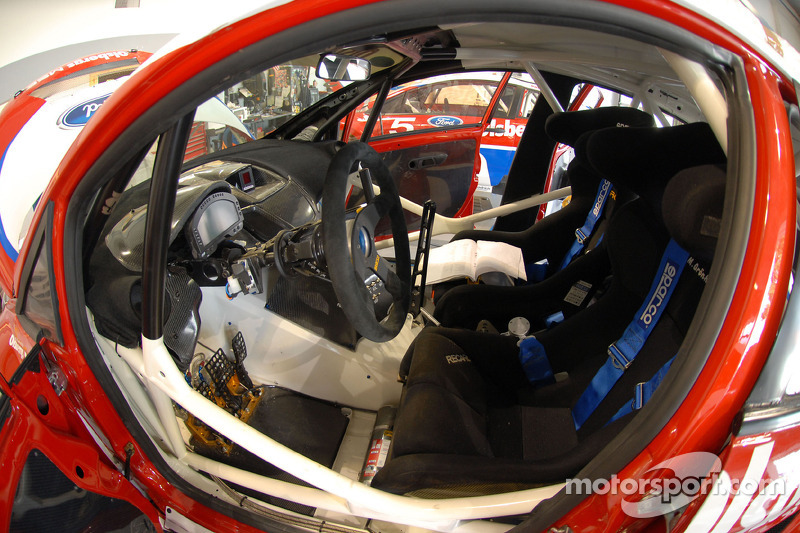 The inside of the Pikes Peak Hillclimb Ford Fiesta