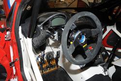 The cockpit of the Pikes Peak Hillclimb Ford Fiesta