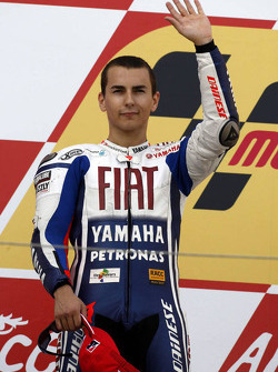 Podium: second place Jorge Lorenzo, Fiat Yamaha Team