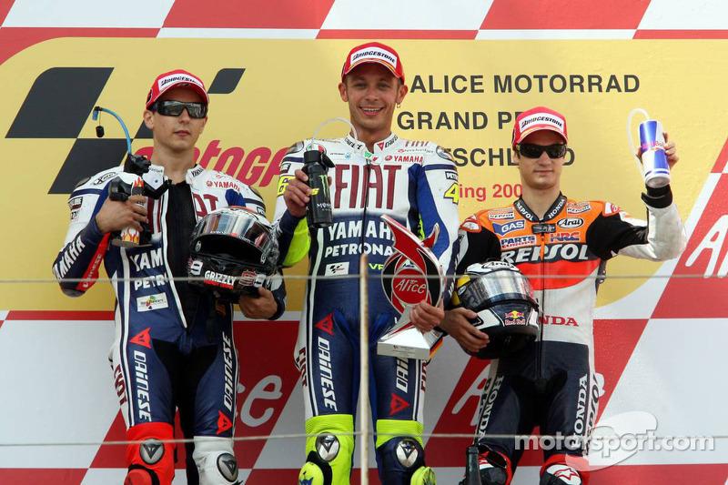 2009. 1 Valentino Rossi. 2 Jorge Lorenzo. 3 Dani Pedrosa