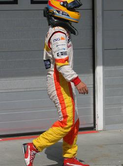Pole winner Fernando Alonso, Renault F1 Team