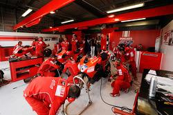 Ducati Marlboro team members at work