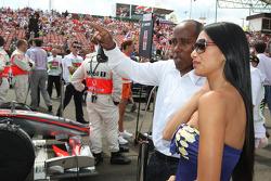 Nicole Scherzinger, cantante de las Pussycat Dolls y novia de Lewis Hamilton, McLaren Mercedes y Anthony Hamilton