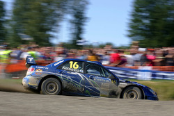 Jari Ketomaa and Miika Teiskonen, Subaru Impreza WRC