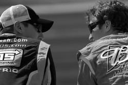 Kyle Busch, Joe Gibbs Racing Toyota and Kasey Kahne, Richard Petty Motorsports Dodge