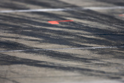 Tire marks on pit road