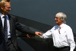 Ari Vatanen and Bernie Ecclestone, President and CEO of Formula One Management