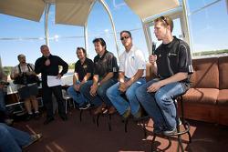 Pre-event press conference: Jacques Villeneuve, Ron Fellows, Scott Pruett and Brad Keselowski