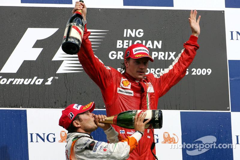 Na segunda metade do ano, com Massa afastado após seu acidente, Raikkonen cresceu junto da Ferrari e venceu em Spa. Porém, não parecia mais o mesmo piloto campeão de dois anos antes.