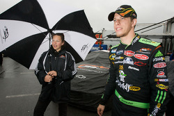 Brad Keselowski share a laugh with his crew